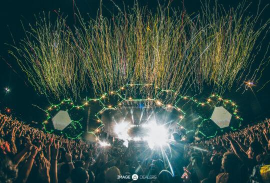 fireworks show at concert